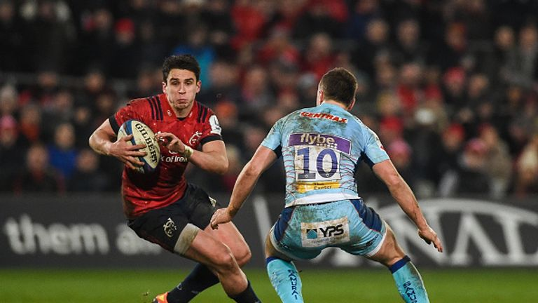 Joey Carbery scored all of Munster's points in a tense victory over Exeter