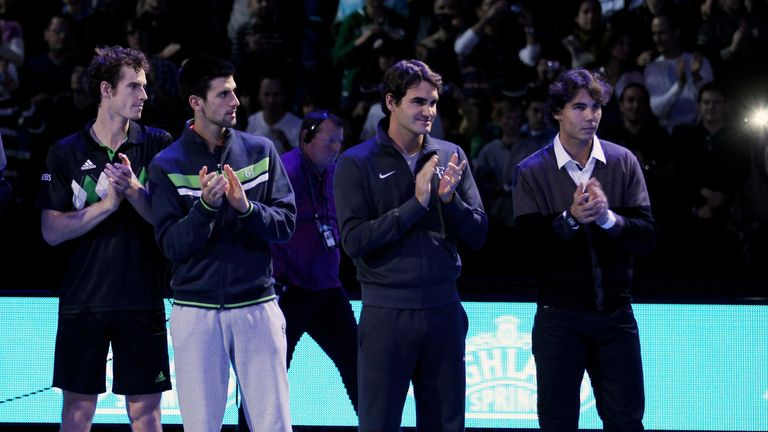 Murray, Novak Djokovic, Roger Federer and Rafael Nadal had dominated the men's game for over a decade