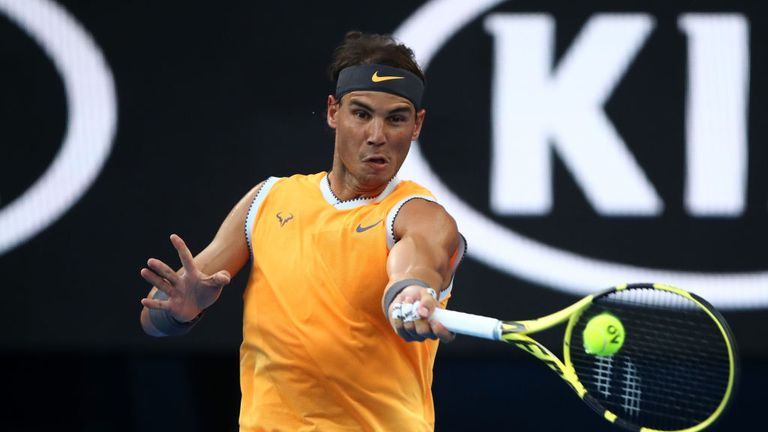Nadal at the Australian Open in the semi-finals