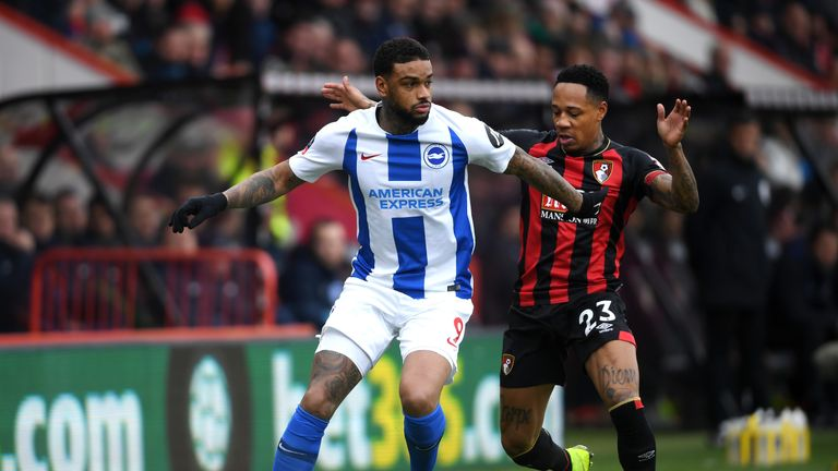 Nathaniel Clyne (R) made his Bournemouth debut on Saturday