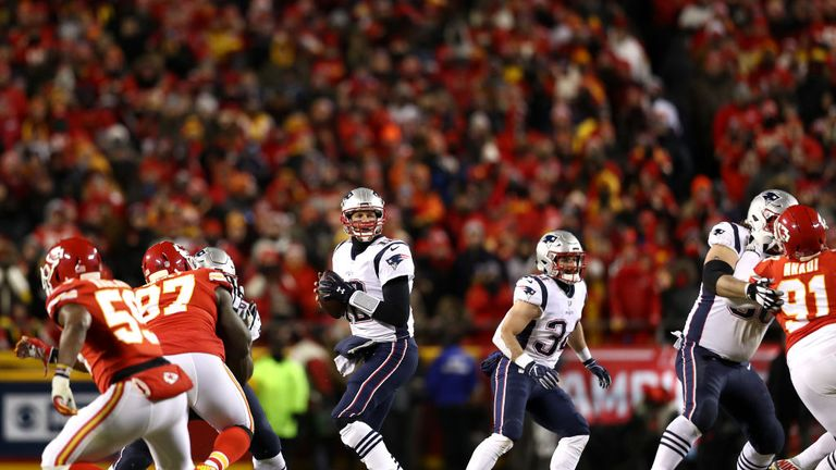 Highlights of the AFC Championship between the New England Patriots and the Kansas City Chiefs.