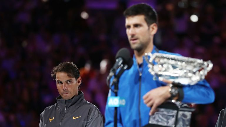Djokovic is now two short of Nadal for Grand Slam titles after his latest triumph
