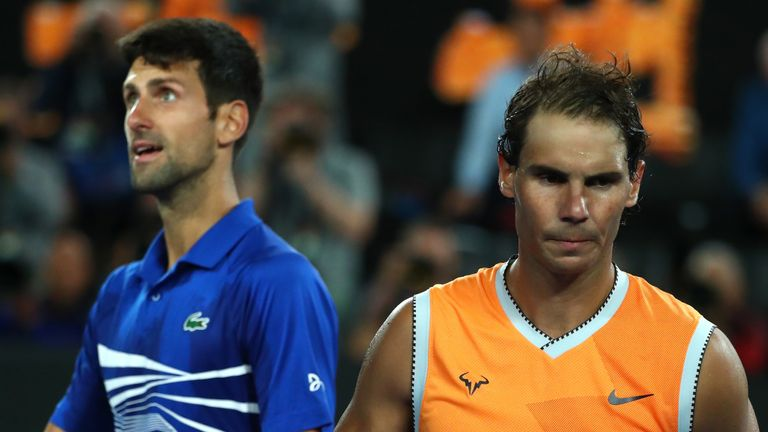 Novak Djokovic outplayed Rafael Nadal in the final of the Australian Open