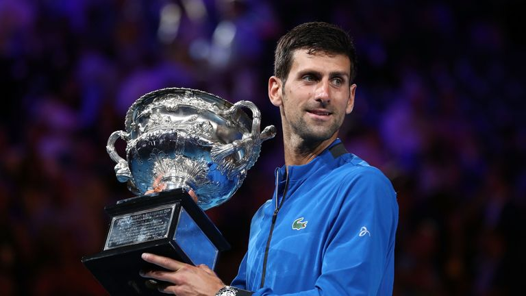 Djokovic beat Nadal to claim the year's first major in Melbourne