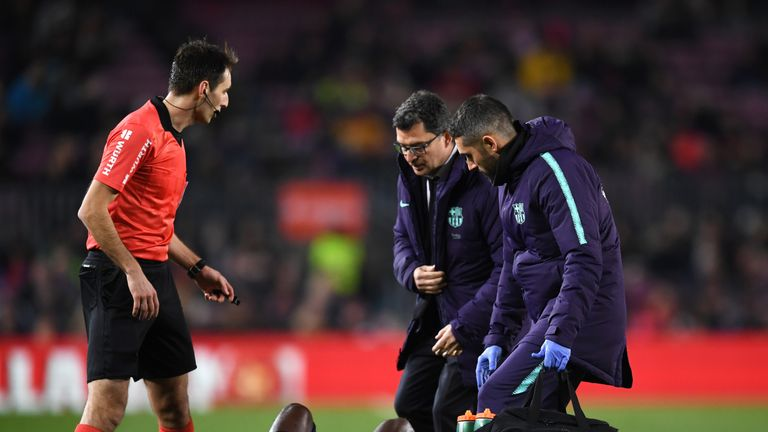 Ousmane Dembele will miss two weeks with a sprained ankle