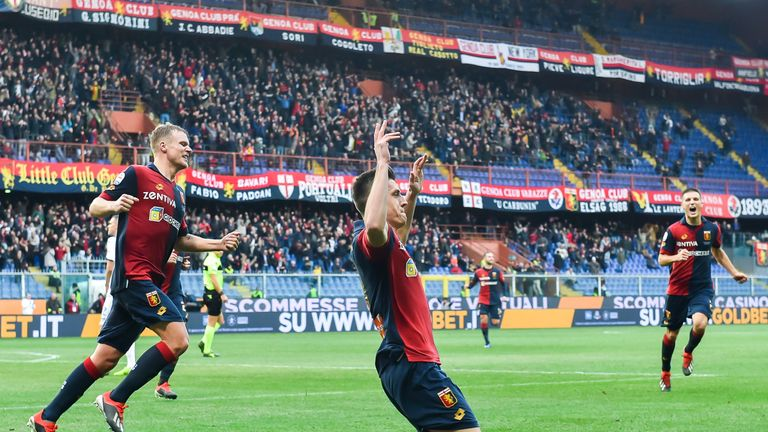 Krzysztof Piatek has scored 19 goals in 21 appearances for Genoa this season after joining from Polish side Cracovia in the summer