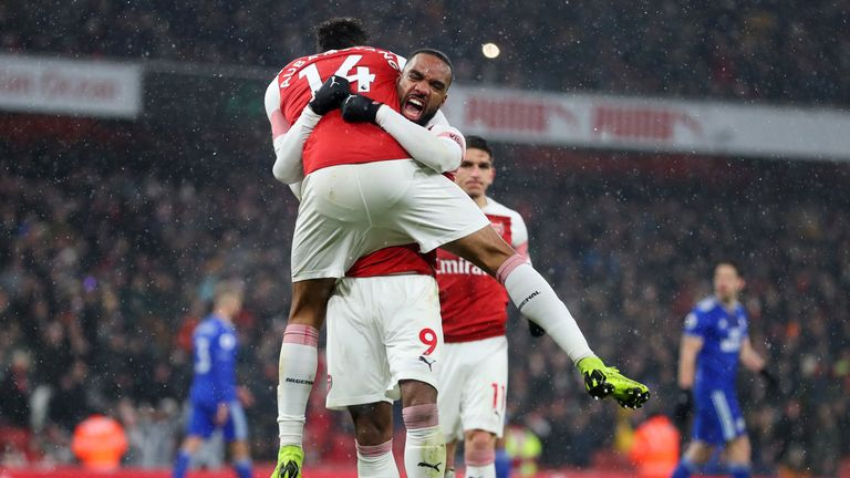 Aubameyang and Alexandre Lacazette have formed a fine partnership at Arsenal