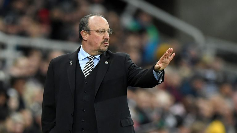 Rafa Benitez's Newcastle lost at home to Man Utd