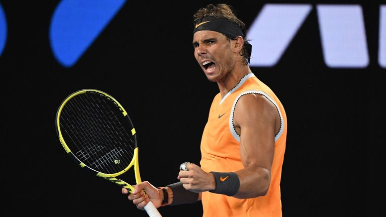 Rafael Nadal defeated Alex de Minaur in Melbourne