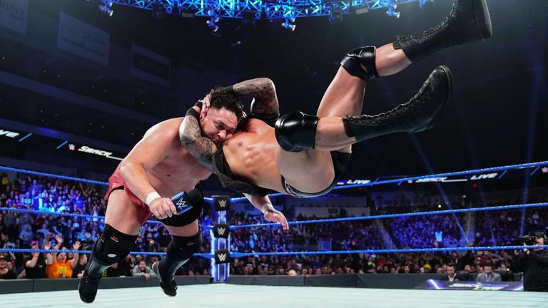 Randy Orton made his first SmackDown appearance for more than a month to deliver an RKO out of nowhere on Samoa Joe