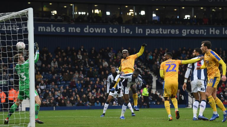 Sako rises to head in the only goal at The Hawthorns against Wigan