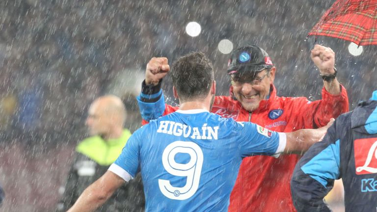 Higuain would be reunited with his former Napoli coach Maurizio Sarri at Chelsea