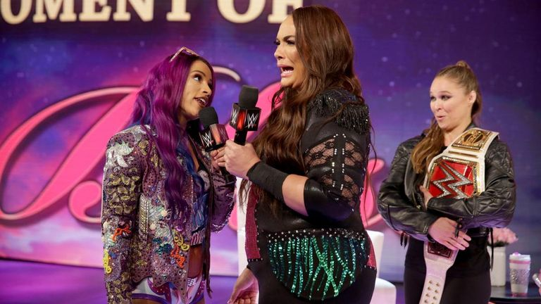 Sasha Banks defeated Nia Jax to earn a shot at Ronda Rousey's Raw women's title at the Royal Rumble but Banks and Rousey will be on the same side tonight