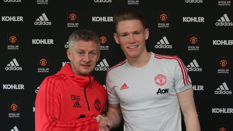 McTominay extended his contract until June 2023 in January