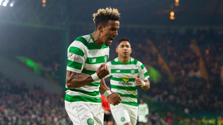 Scott Sinclair scored twice for Celtic in their Scottish Cup win