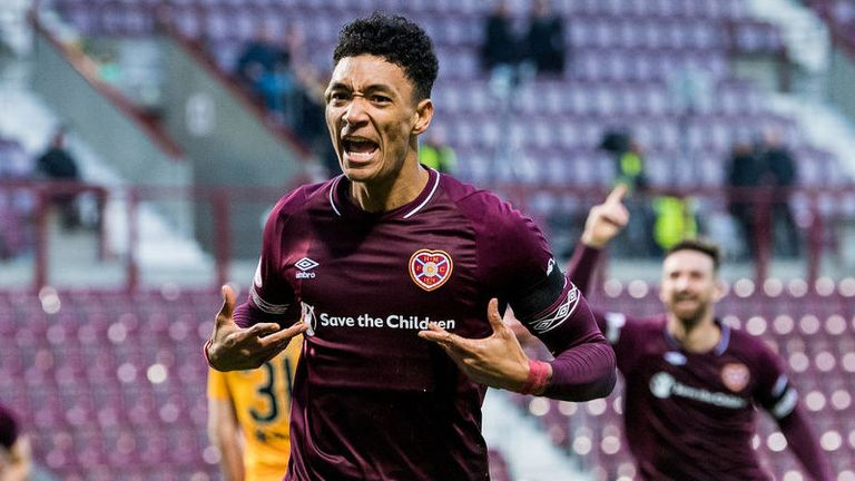 Sean Clare's goal was his first since signing for Hearts