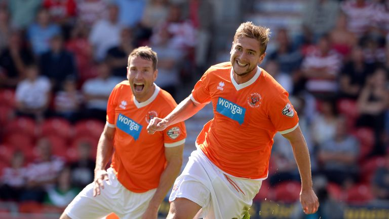 Davies had two spells at Blackpool