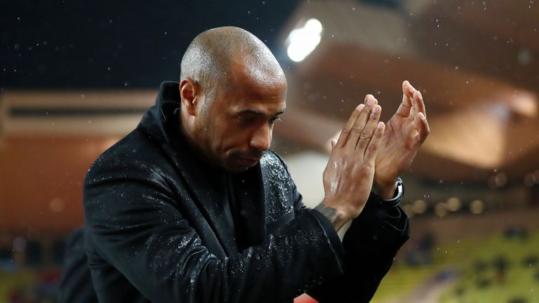 Thierry Henry left Monaco after just three months in charge