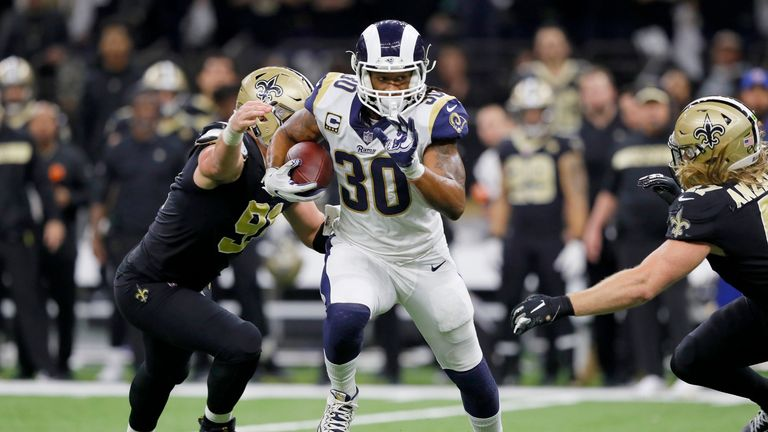 Gurley had just 10 yards rushing all game