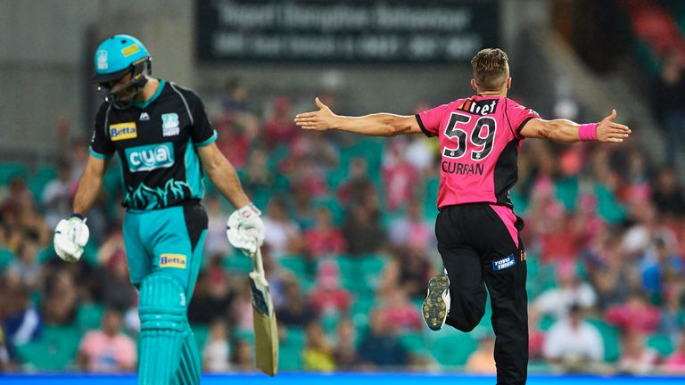 Tom Curran enjoyed a superb spell with Sydney Sixers in the Big Bash