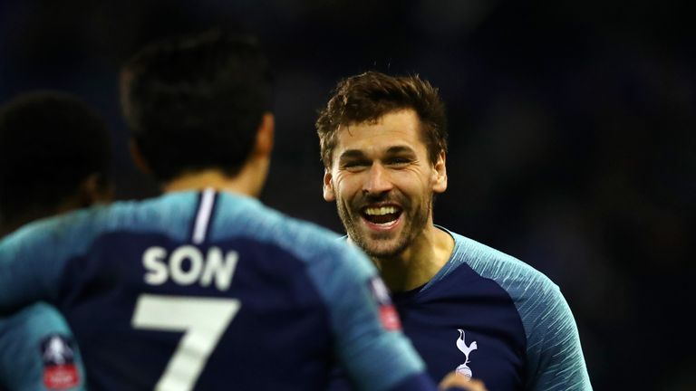 Tottenham put seven goals past Tranmere Rovers, with Fernando Llorente bagging a hattrick