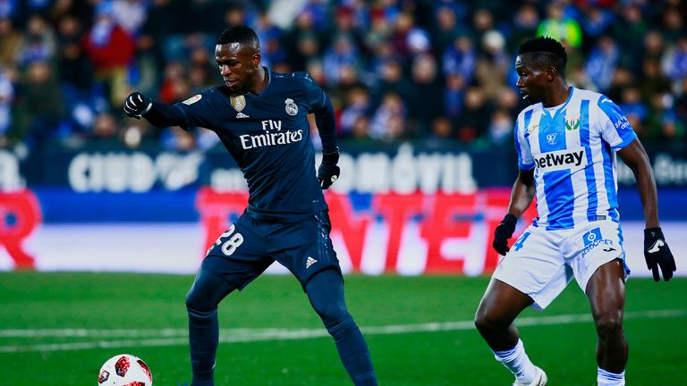 Vinicius Jr fared better in the second half when switching to the left wing