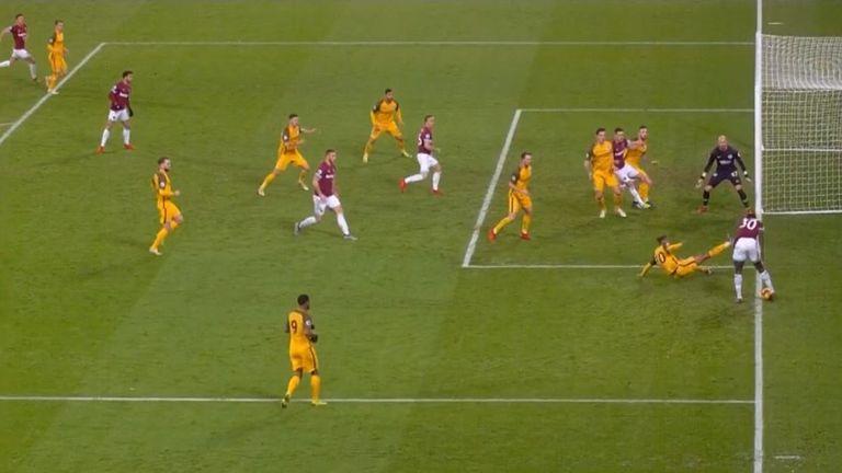 Should West Ham's equaliser have stood against Brighton?
