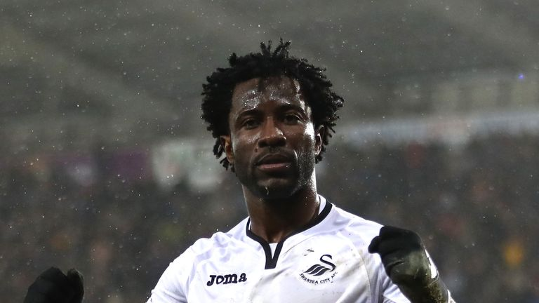 Swansea re-signed Wilfried Bony for £12m from Manchester City in August 2017
