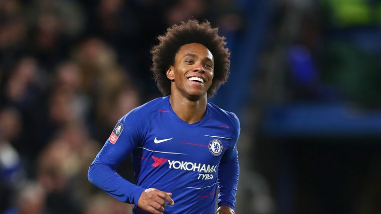 Willian was a second-half sub against Bournemouth on Wednesday night