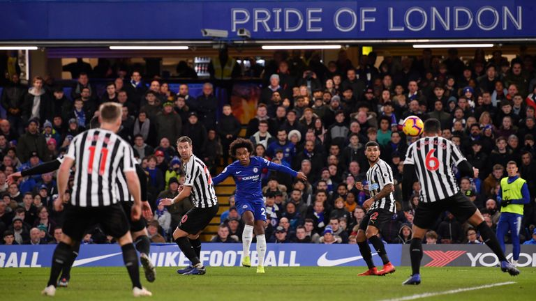Willian's curling effort secured victory against Newcastle
