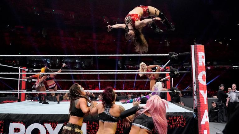 NXT star Io Shirai appeared in the women's Royal Rumble as the division looked towards its future