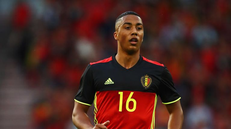 Youri Tielemans has 14 international caps since his Belgium debut in 2016