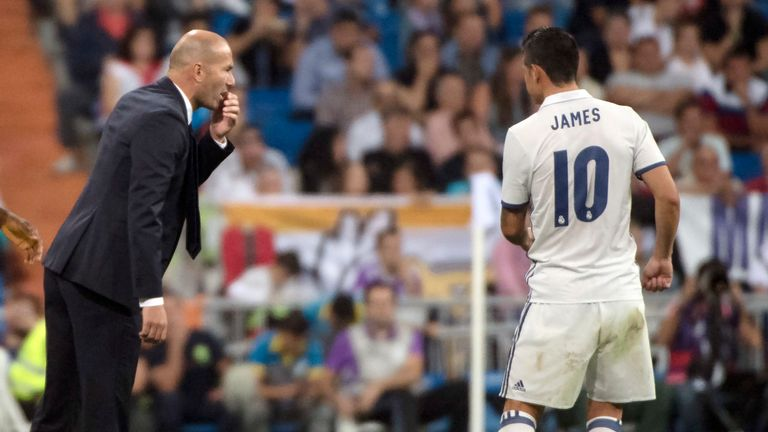 The Colombian struggled for game time under Zinedine Zidane before being loaned to Bayern
