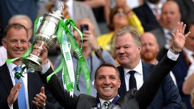 Brendan Rodgers will take his Celtic side to face Hibs in the quarter-finals