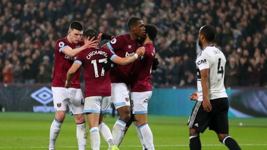 West Ham celebrate their win over Fulham