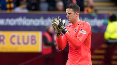 Colin Doyle looking dejected at full-time after his howler gifted Motherwell victory