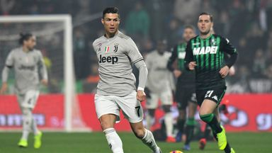 Cristiano Ronaldo was involved in all of Juventus' goals as they won 3-0 at Sassuolo