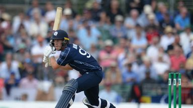 George Munsey in white-ball action for Scotland