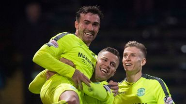 Hibernian moved back into the top six with a fine with at Dundee