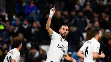 Karim Benzema scored a hat-trick for Real Madrid