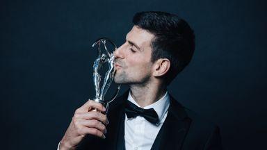Novak Djokovic was named Laureus sportsman of the year on Monday