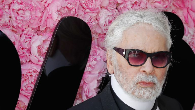 German fashion designer Karl Lagerfeld died earlier this year