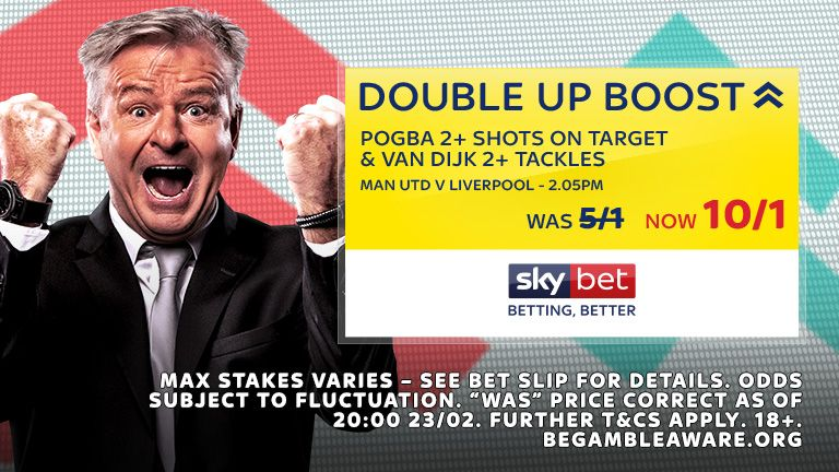 Man Utd v Liverpool Double Up Boost