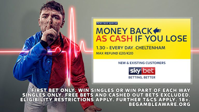 Money Back As Cash - First Race Special