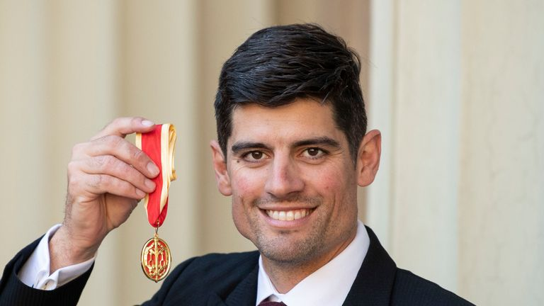 Cook was knighted at Buckingham Palace in February 2019