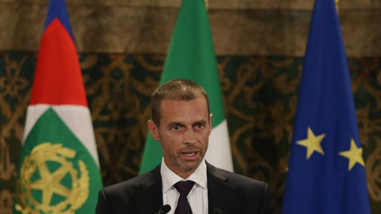 UEFA president Aleksander Ceferin says Baku will remain a host city for Euro 2020