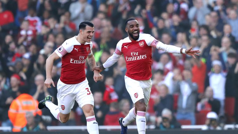 Alexandre Lacazette scored a free-kick against Bournemouth with Arsenal players disrupting the wall