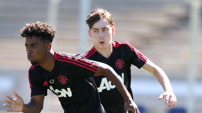 England youth internationals Angel Gomes and James Garner could both feature at Crystal Palace on Wednesday