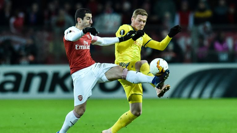 Henrik Mkhitaryan was unable to unlock BATE's defence