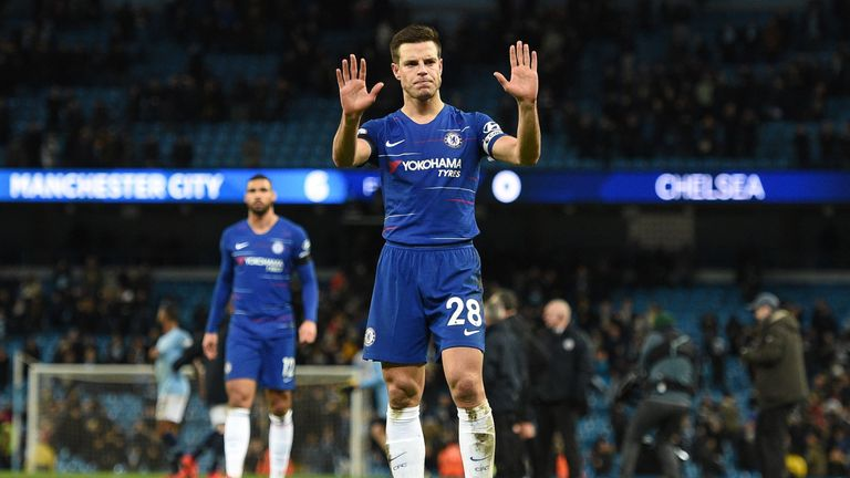 Cesar Azpilicueta apologises to the Chelsea fans after the 6-0 thrashing to Manchester City